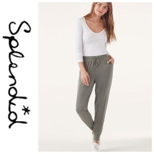 💕SALE💕 Splendid Gray Silky Joggers